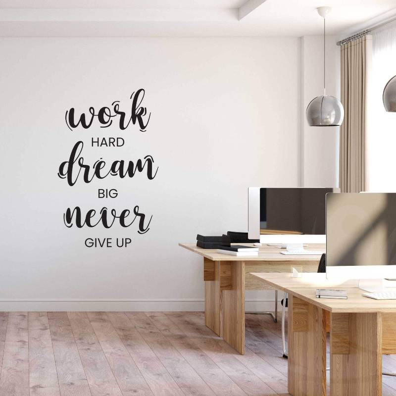 Never Give Up Wall Decal for office