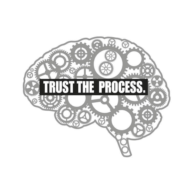 Trust the Process Wall Decal