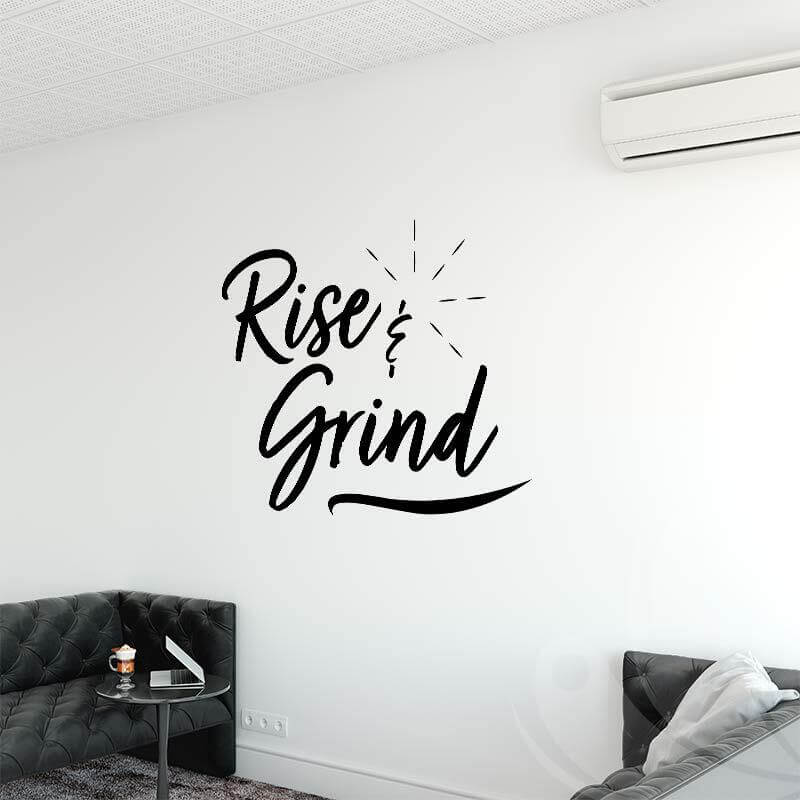 Rise & Grind Wall Decal Mockup