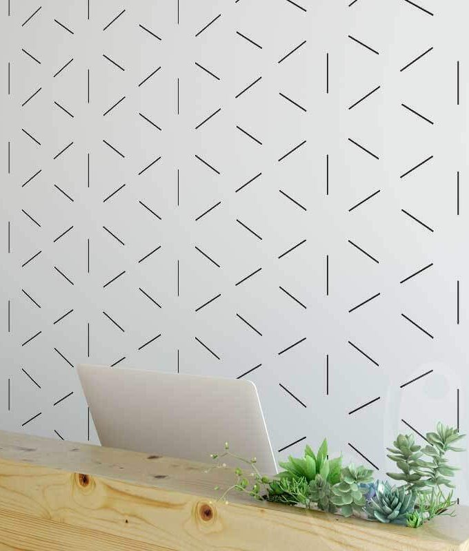 Star Cross Wallpaper Pattern