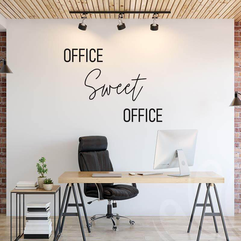 Office sweet office decal for office space
