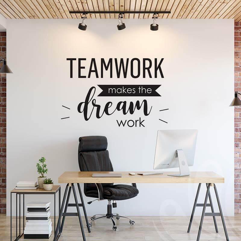 Teamwork inspirational wall decal