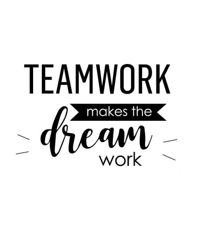 Teamwork inspirational wall decal