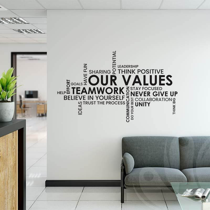 Our Values Wall Decal