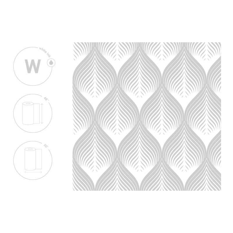 White Leaf Pattern Film Size