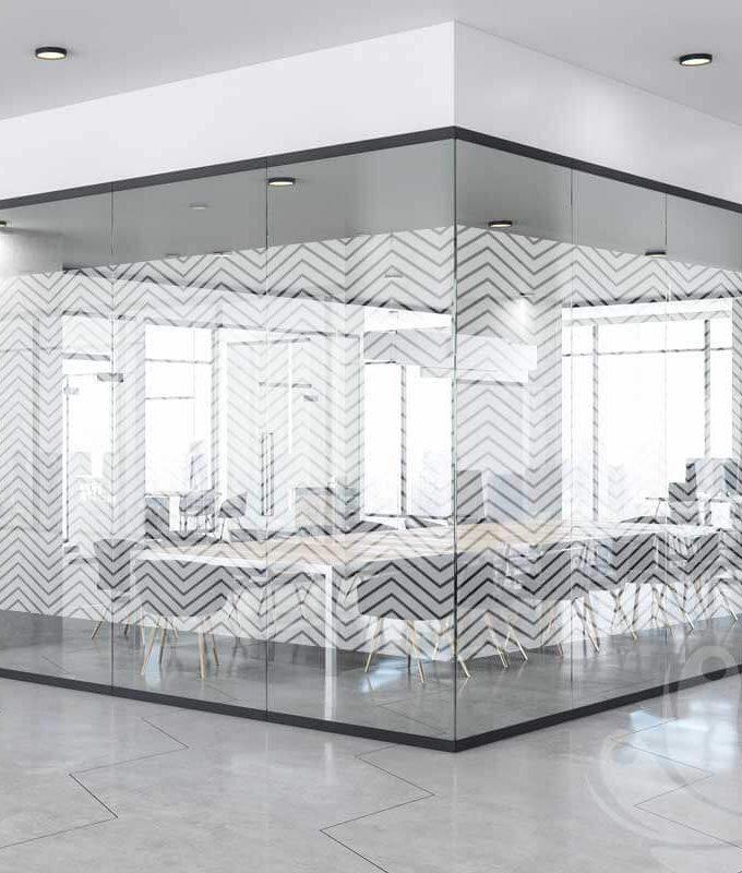 Zig Zag Glass Pattern Film