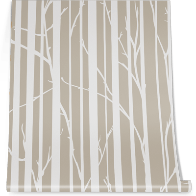 Birch Wall Graphic for office