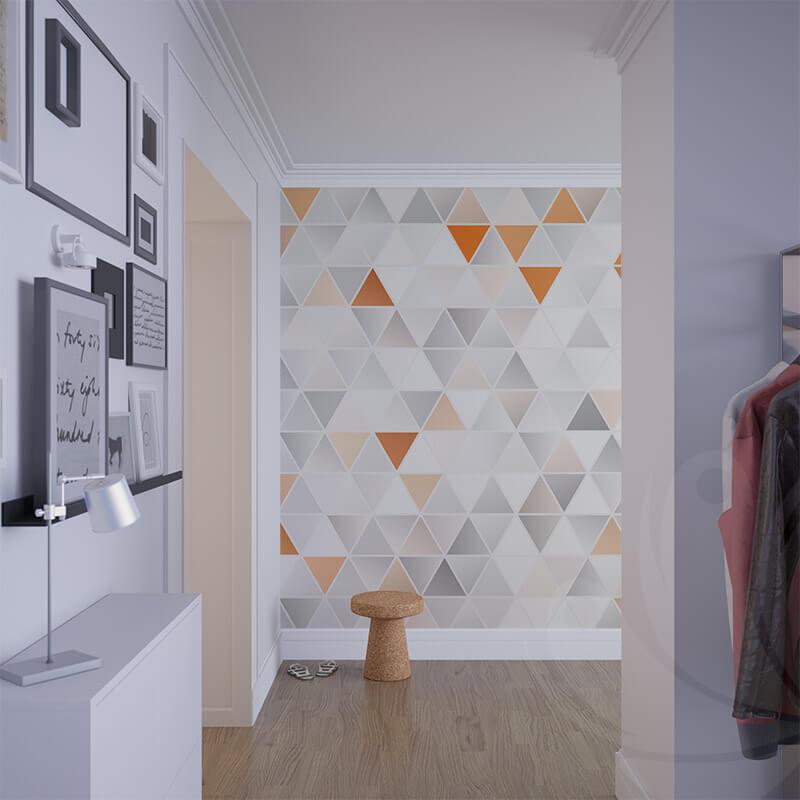 Colouful Triangle Graphic Pattern