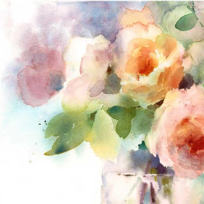 Rose Floral Wall Mural Pattern