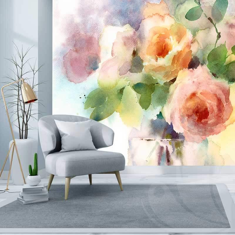 Rose Floral Wall Mural