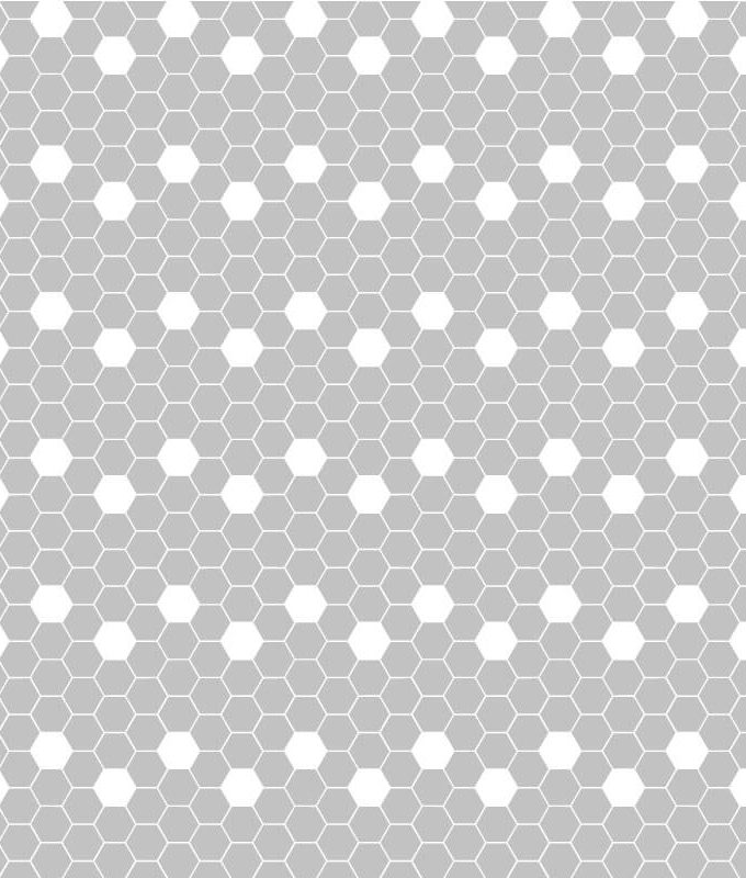 Hexagonal Frosted Pattern