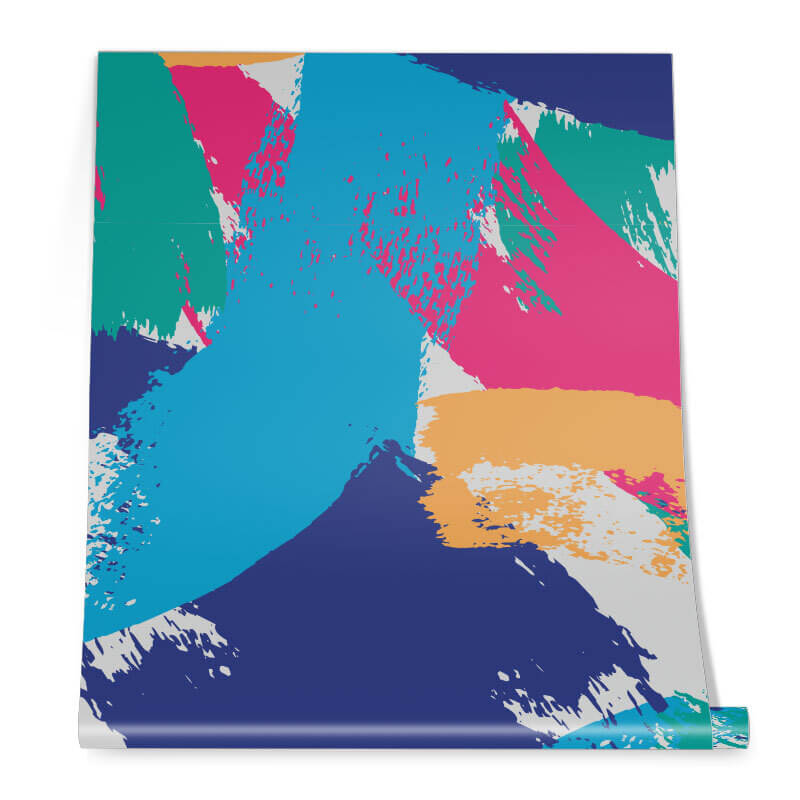 Multi-coloured Abstract Pattern Roll