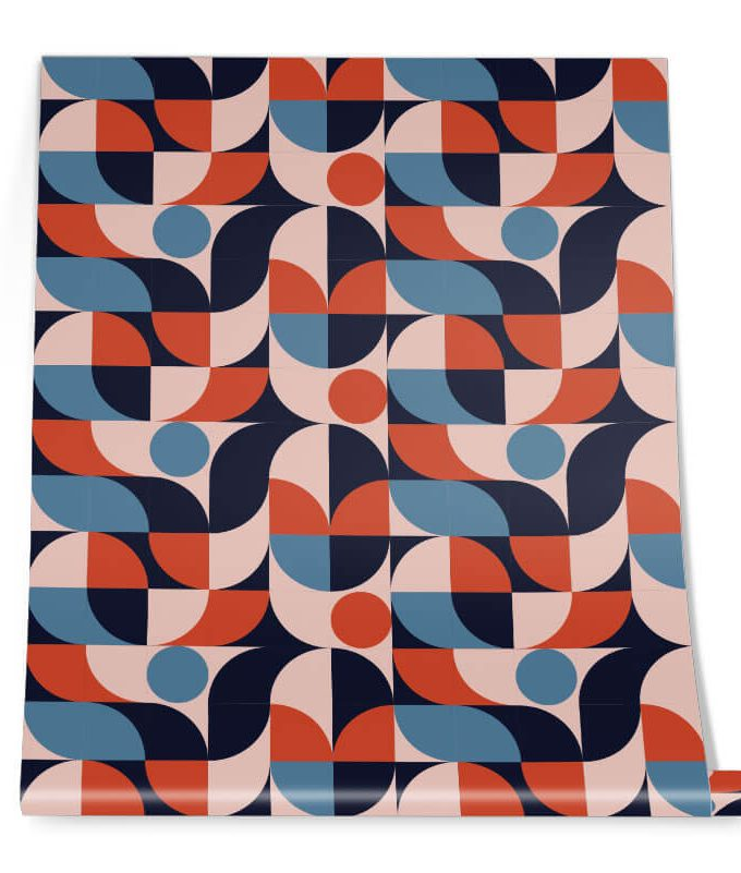 Round Geometric Pattern Roll