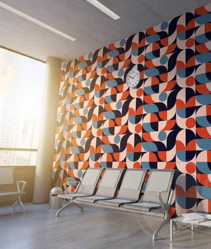 Round Geometric Wallpaper