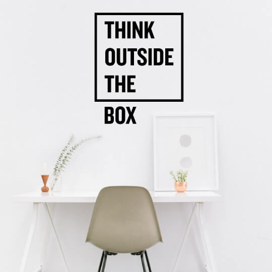 Think Out the box wall decal
