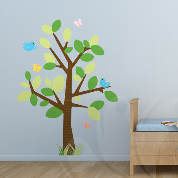 Tree Bird Wall Decal for kids room