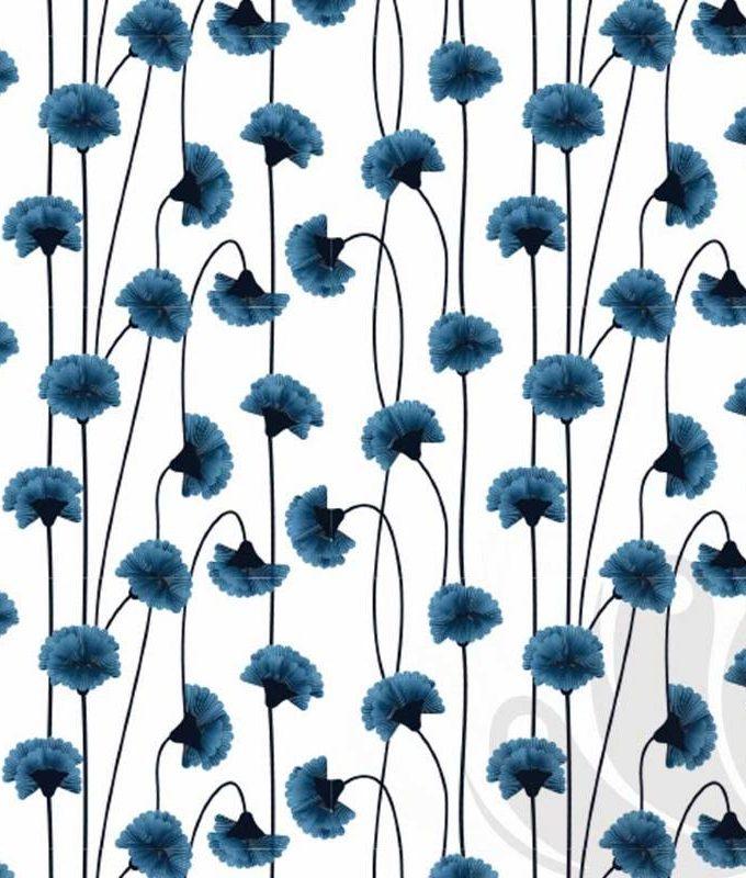 Blue Flower Wallpaper Pattern