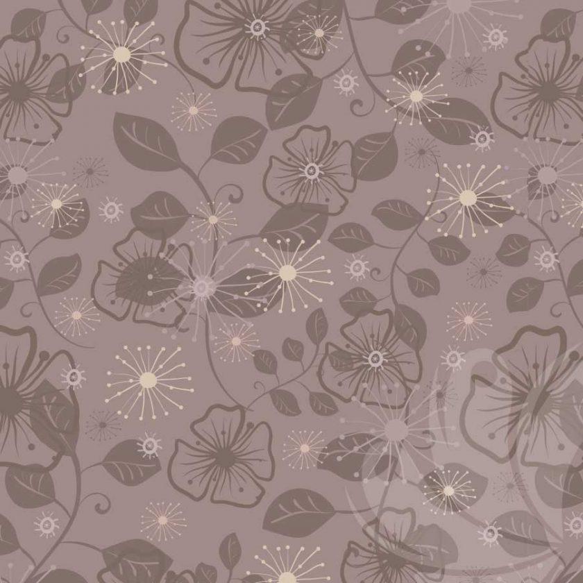 Brown Flower Graphic Pattern