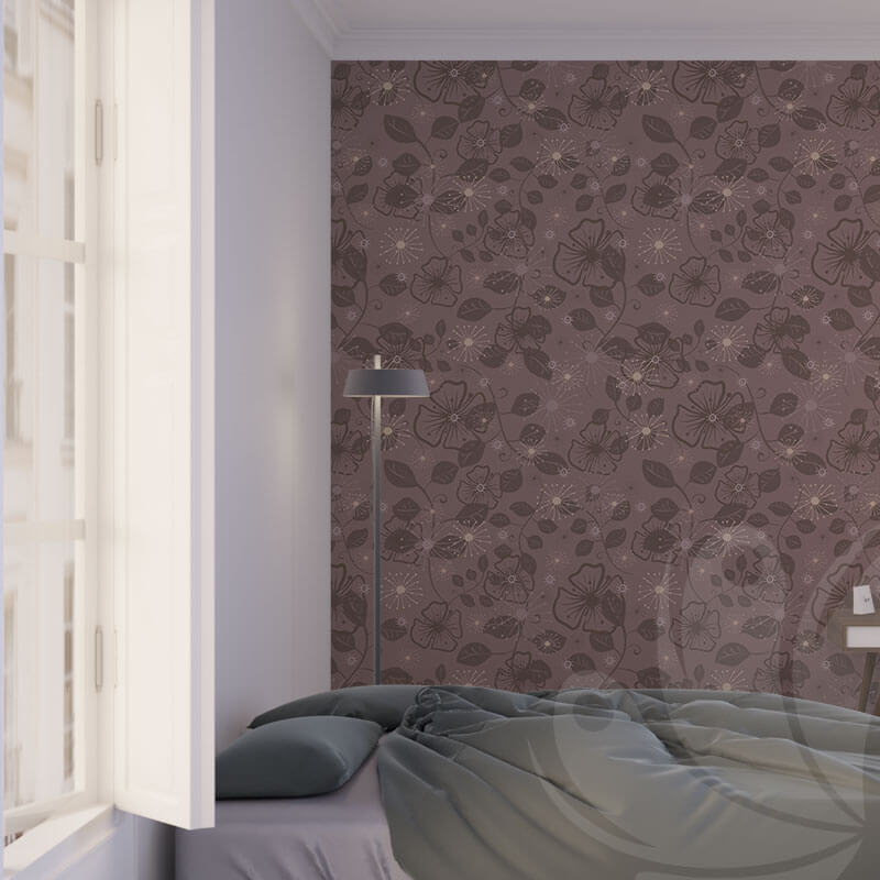 Brown Flower Wall Graphic
