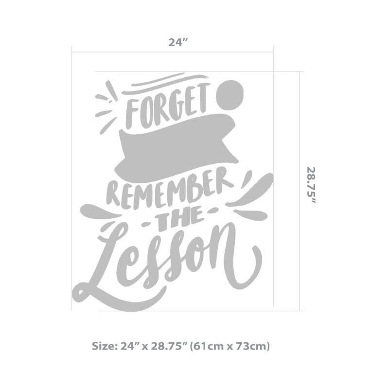 Forget Mistakes Quote Decal Size