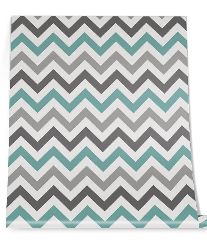 Multi-colour Chevron Wall Graphic Roll