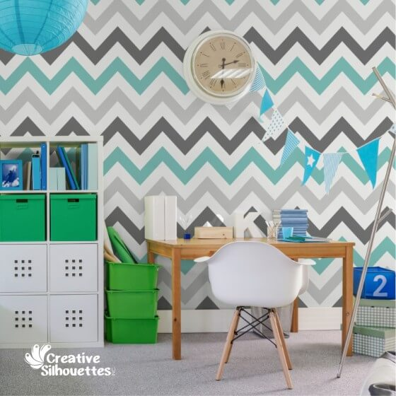 Multi-colour Chevron Wall Graphic