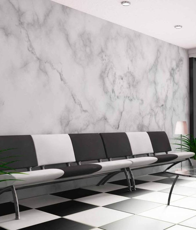 White Marble Finishing Graphic