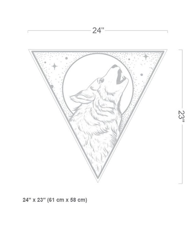 Wolf Moon Wall Decal Size