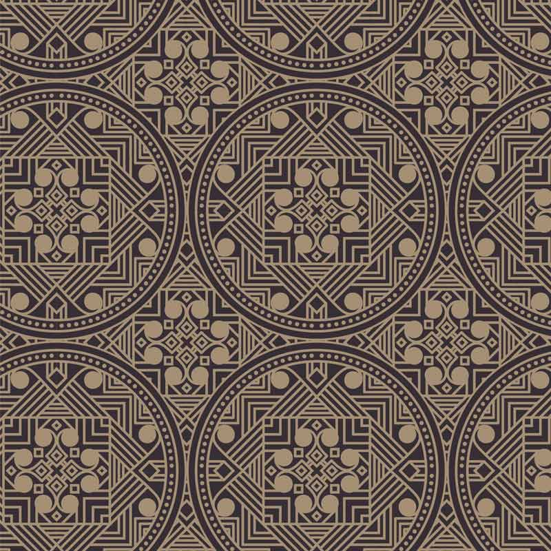 Abstract Ethnic Brown Wallpaper Pattern