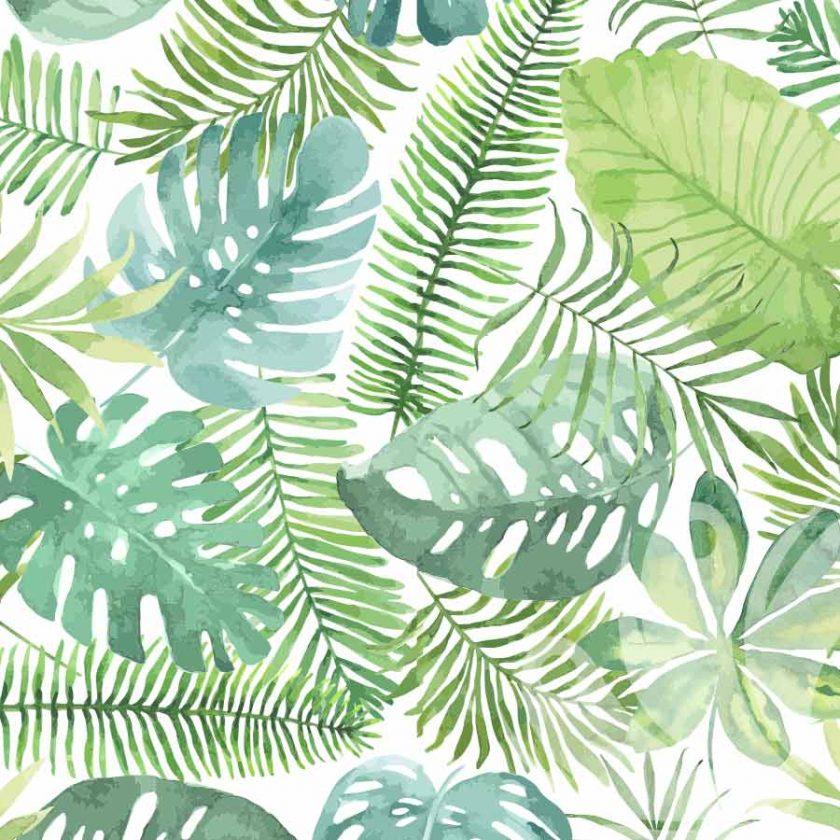 Pastel Green Flowers Pattern