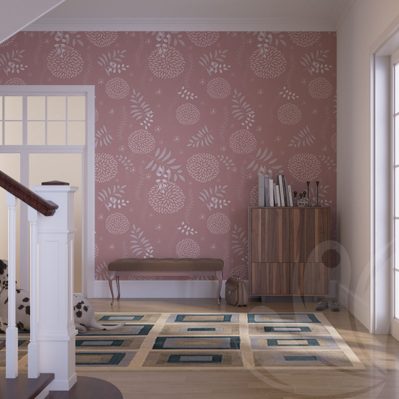Pink Pastel Floral Wall Graphic