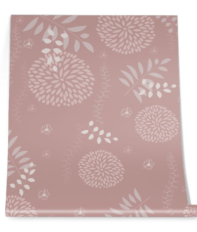 Pink Pastel Floral Roll