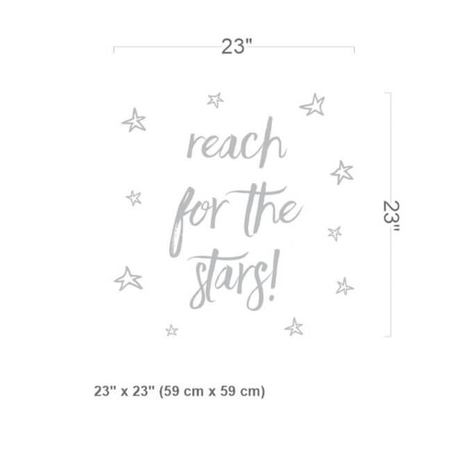 Reach for the stars Decal Size