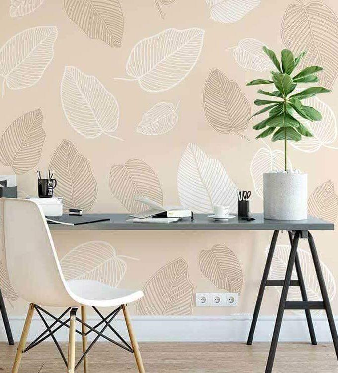 Tropical Fall Leaf Wallpaper