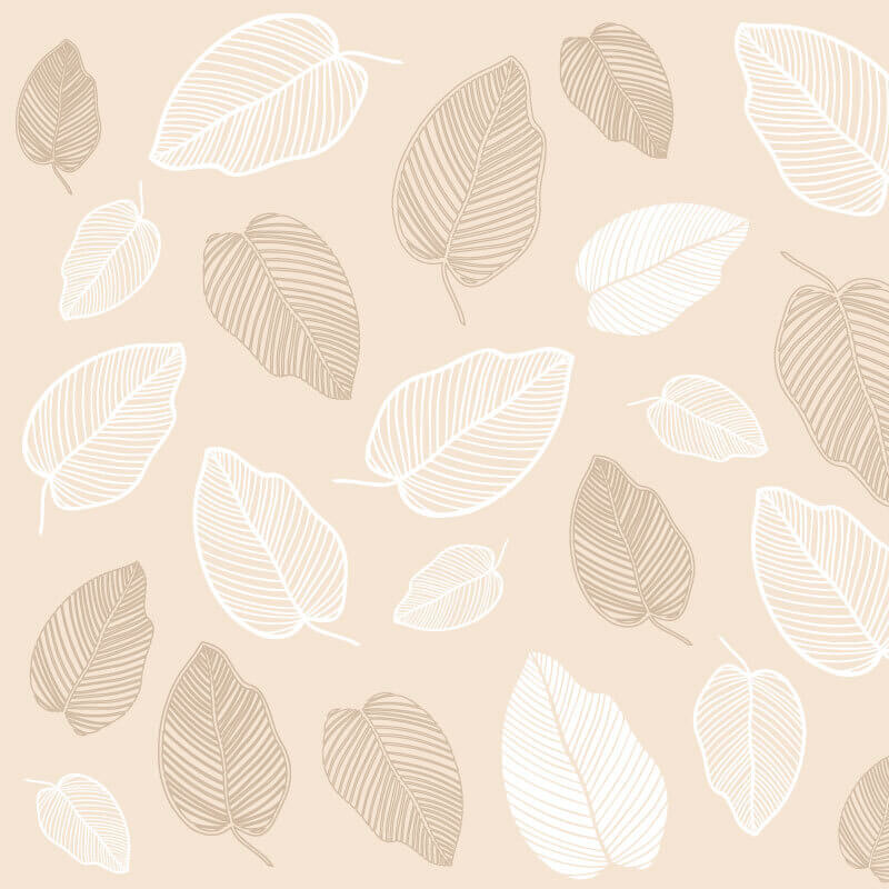 Tropical Fall Leaf Wallpaper Pattern