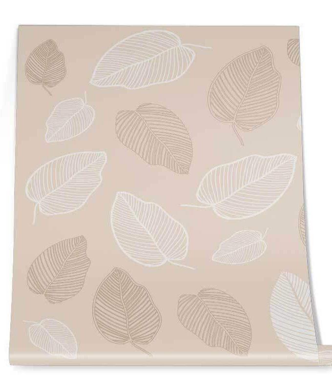 Tropical Fall Leaf Wallpaper Roll