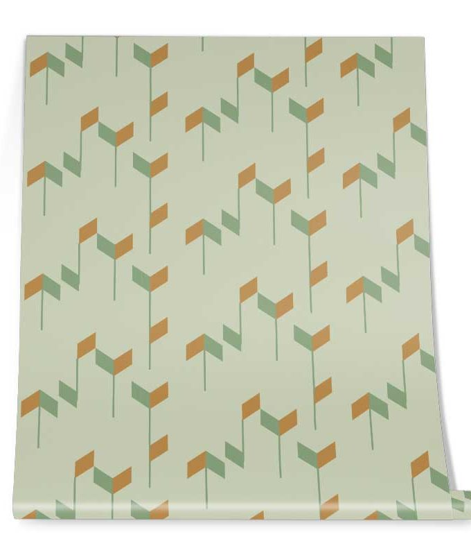 Geometric Trapezoid Pattern Roll