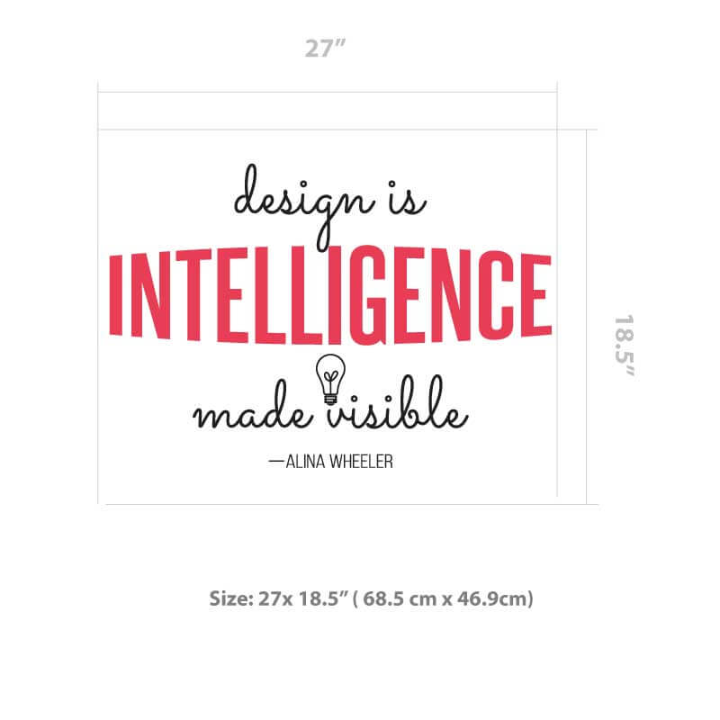 Intelligence Quote Decal Size