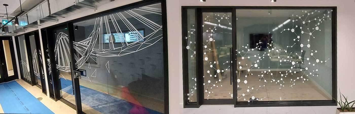 Office custom window graphics