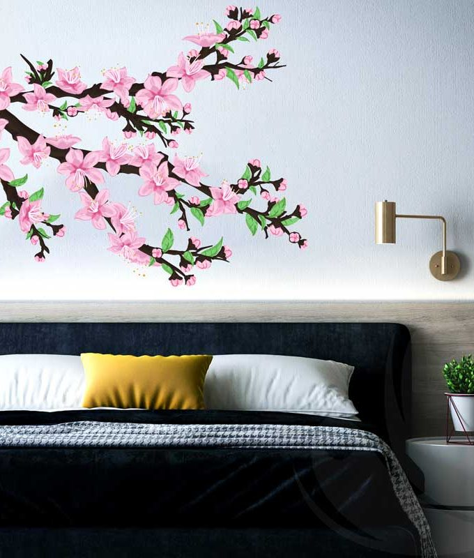 Peach Blossom Tree Wall Decal