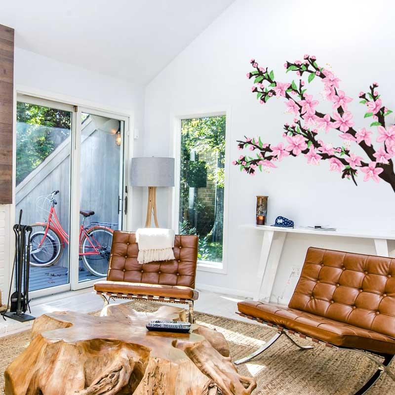 Peach Blossom Tree Wall Decal