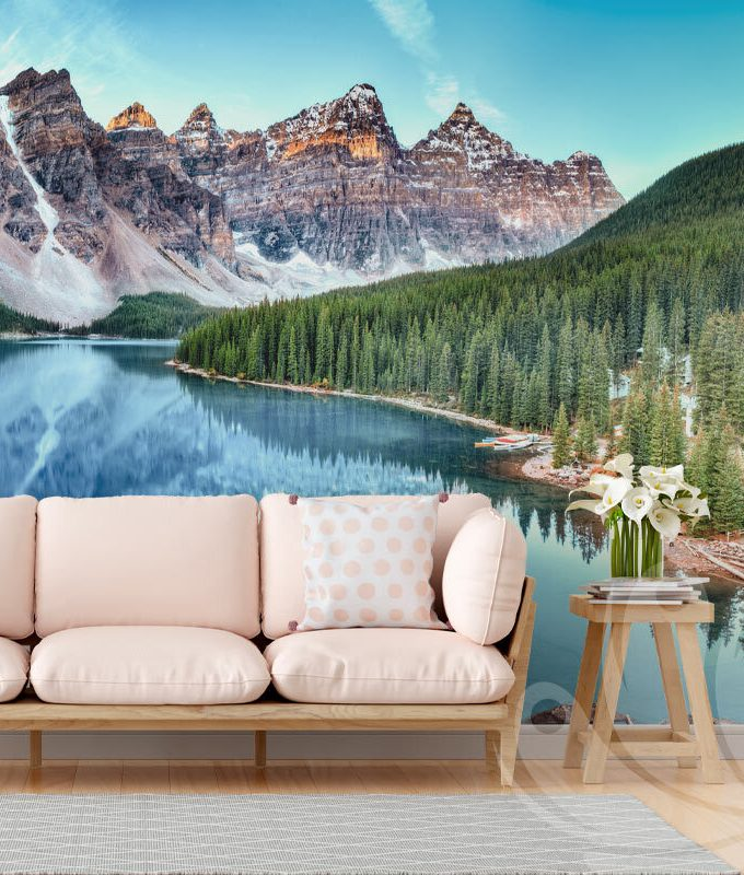 Moraine Lake Wallpaper Mural