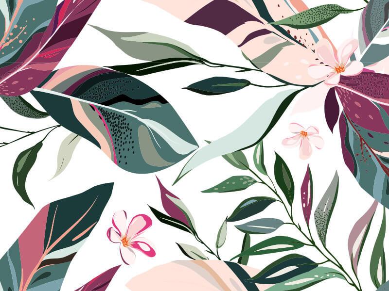 Tropical Leaf Wallpaper Pattern