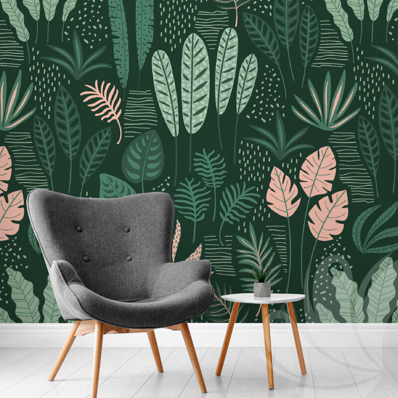 Abstract Tropical Leaves Wallpaper