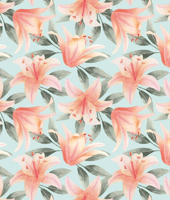 Cherry Blossom Flower Mural Pattern