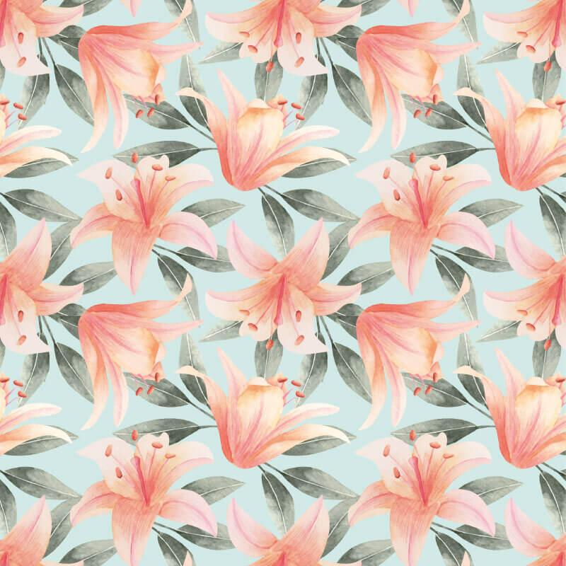 Cherry Blossom Flower Mural Pattern