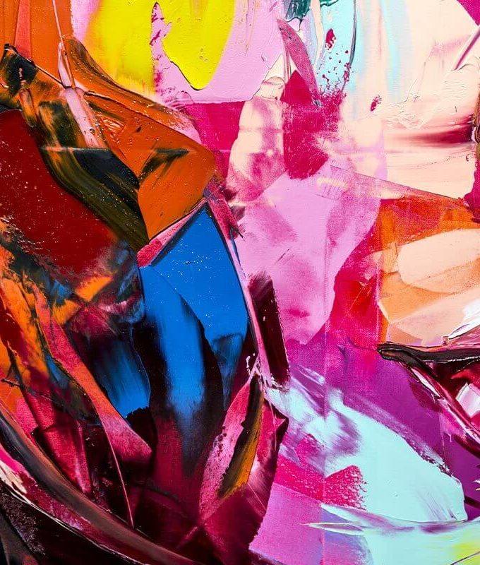 Abstract Brush Stroke Wallpaper
