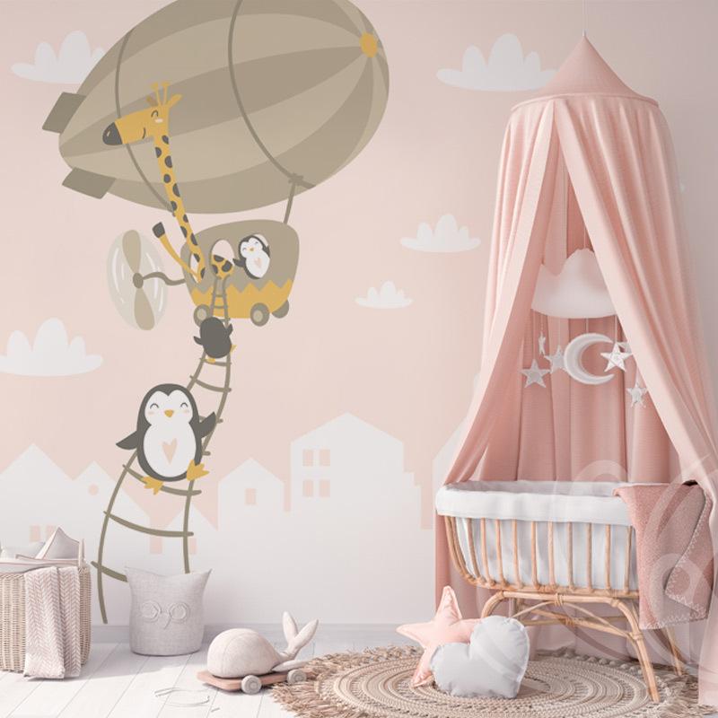 Hot Air Balloon Kids Wallpaper