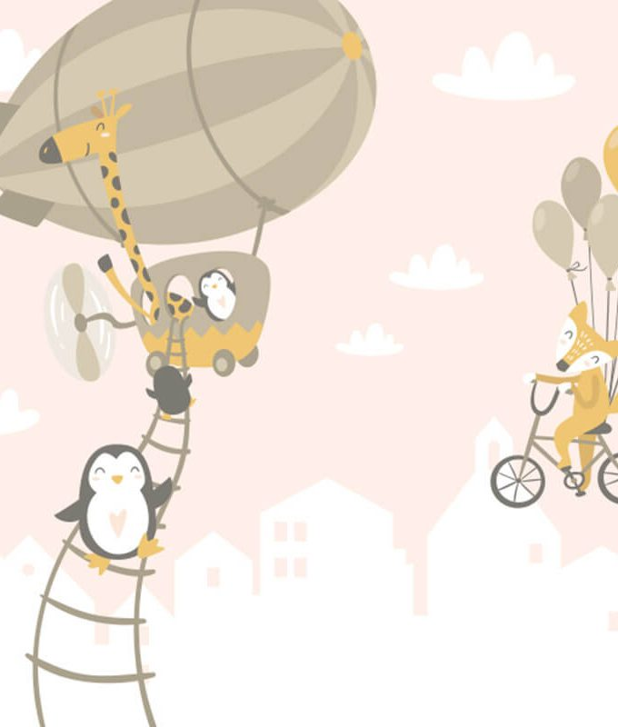 Hot Air Balloon Kids Wallpaper