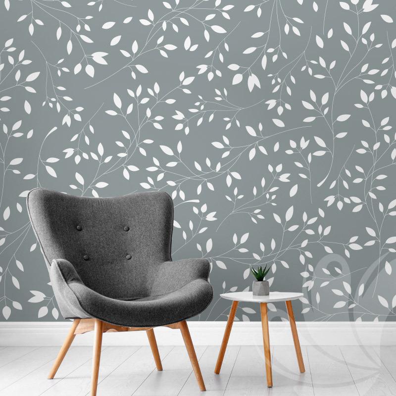 Mint Olive Branch Wallpaper
